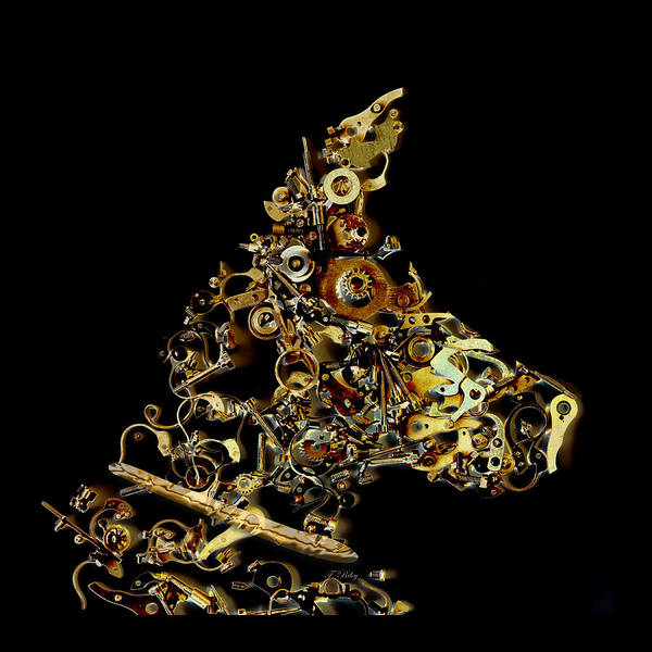 Dog Art Print featuring the photograph Mechanical - Dog by Fran Riley