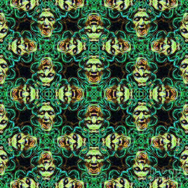 Medusa Print featuring the photograph Medusa Abstract 20130131p38 by Wingsdomain Art and Photography