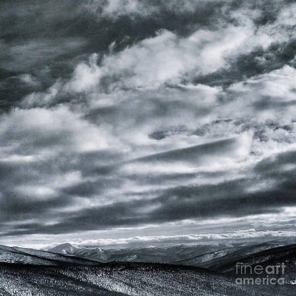 Taylor Highway Art Print featuring the photograph Melancholia Mountains And Even More Mountains by Priska Wettstein
