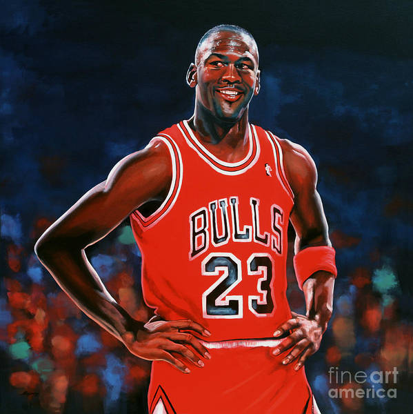 Michael Jordan Print featuring the painting Michael Jordan by Paul Meijering
