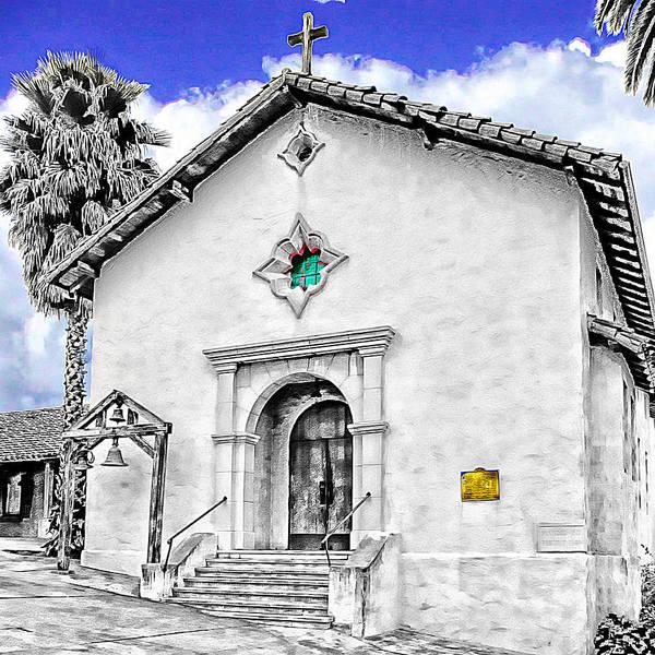 Mission San Rafael Art Print featuring the digital art Mission San Rafael Arcangel by Ken Evans