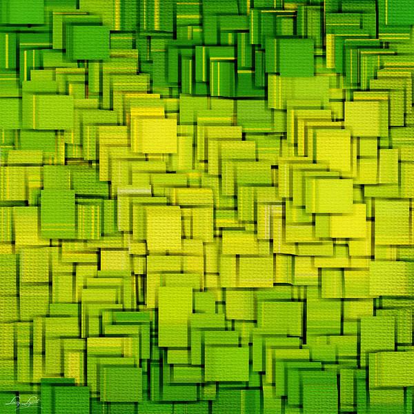 Light Green Art Print featuring the digital art Modern Abstract Xxxiii by Lourry Legarde