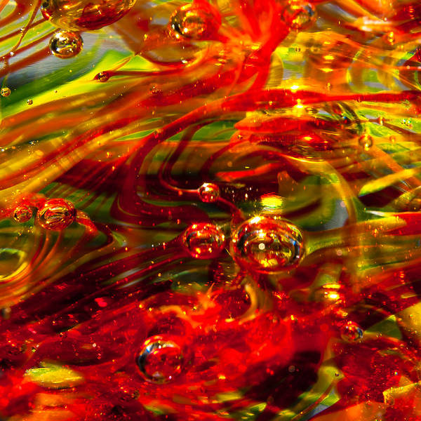 Glass Art Print featuring the photograph Molten Bubbles by David Patterson