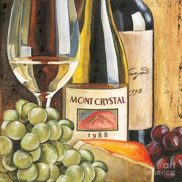 Green Grapes Art Print featuring the painting Mont Crystal 1988 by Debbie DeWitt