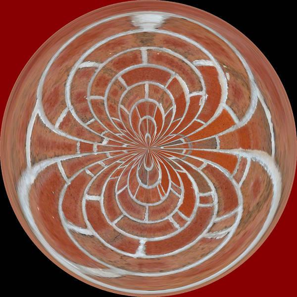 Art Print featuring the photograph Morphed Art Globes 17 by Rhonda Barrett