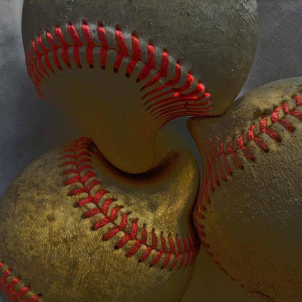 Morphing Art Print featuring the photograph Morphing Baseballs by Bill Owen