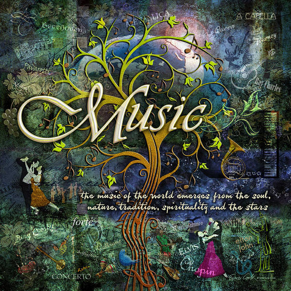 Music Art Print featuring the photograph Music by Evie Cook