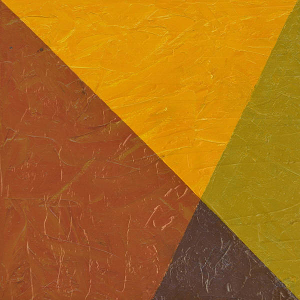 Abstract Art Print featuring the painting Mustard And Pickle by Michelle Calkins