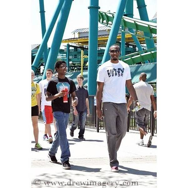 Tbt Art Print featuring the photograph My Little Brother And I At Cedar Point by Brandon Harris