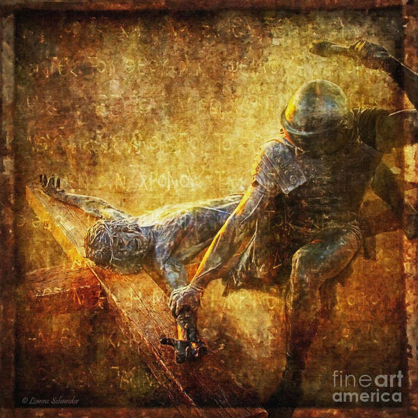 Jesus Art Print featuring the photograph Nailed To The Cross Via Dolorosa 11 by Lianne Schneider