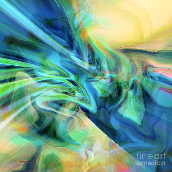 Bright Yellow Art Print featuring the digital art New Day by Margie Chapman