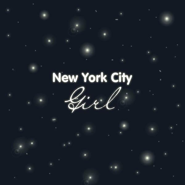New York City Girl Art Print featuring the digital art New York City Girl by Pati Photography