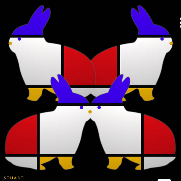 De Stijl Print featuring the painting Night Watch by Charles Stuart