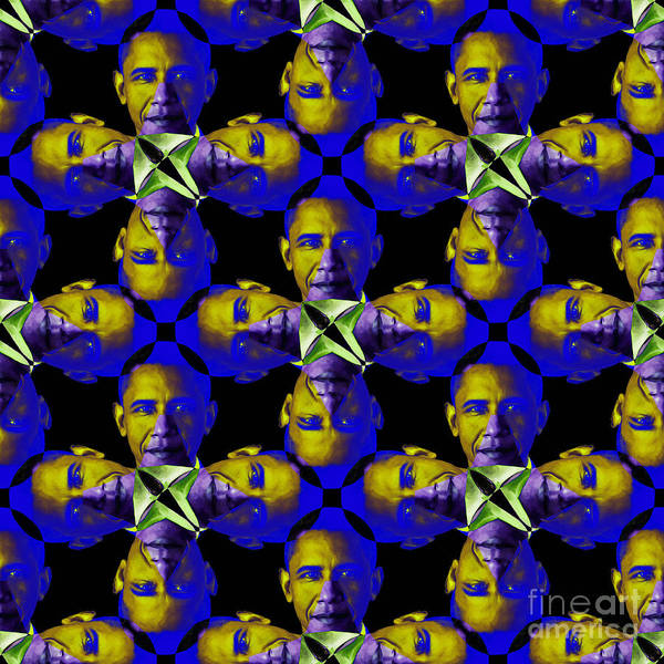 Politic Art Print featuring the photograph Obama Abstract 20130202m118 by Wingsdomain Art and Photography
