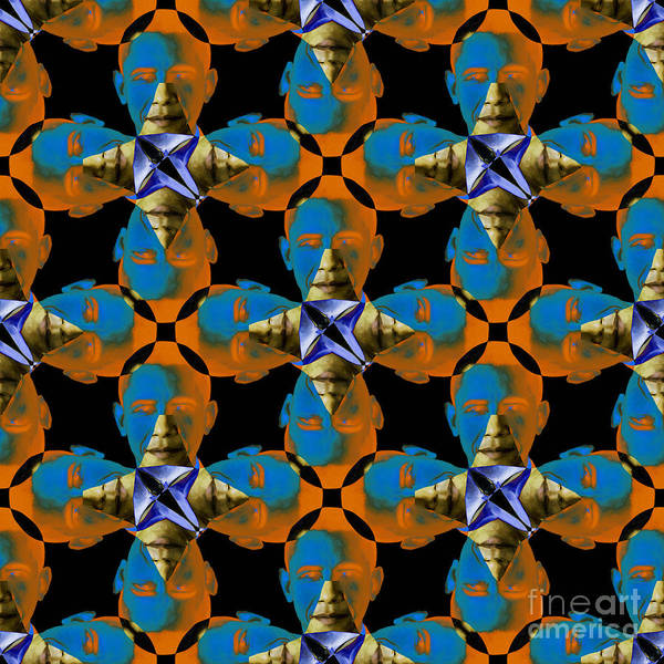 Politic Print featuring the photograph Obama Abstract 20130202p28 by Wingsdomain Art and Photography