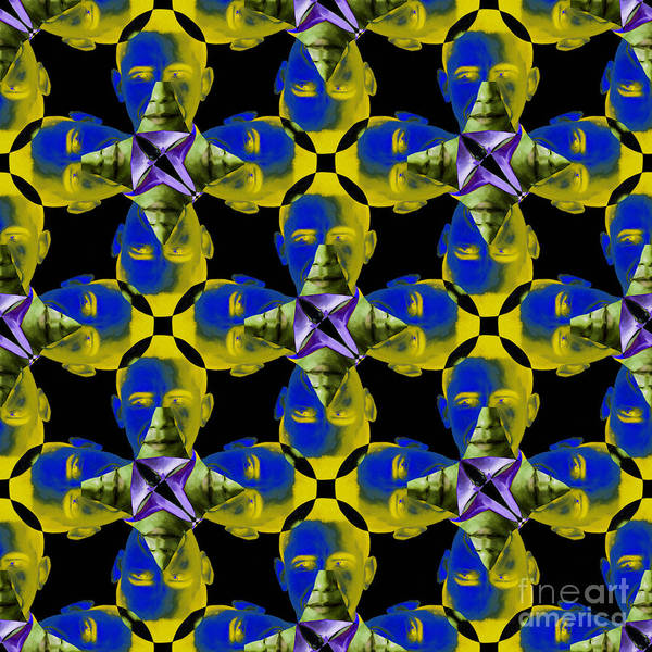 Politic Print featuring the photograph Obama Abstract 20130202p55 by Wingsdomain Art and Photography