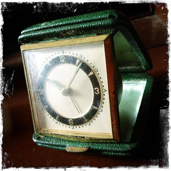 Grunge Print featuring the photograph Old Clock by Les Cunliffe