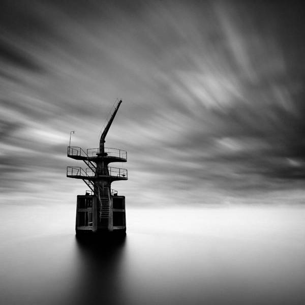 Cargo Crane Print featuring the photograph Old Crane by Dave Bowman
