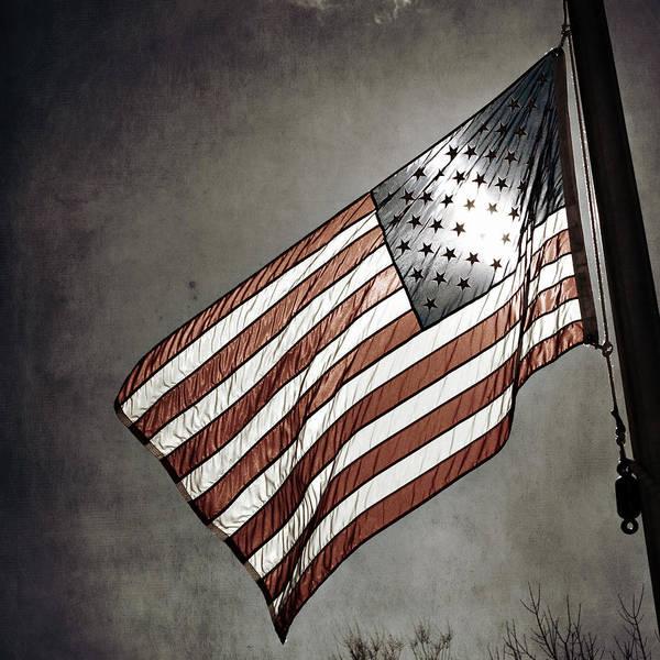 Amelia Kay Photography Print featuring the photograph Old Glory - American Flag Photograph by Amelia Matarazzo