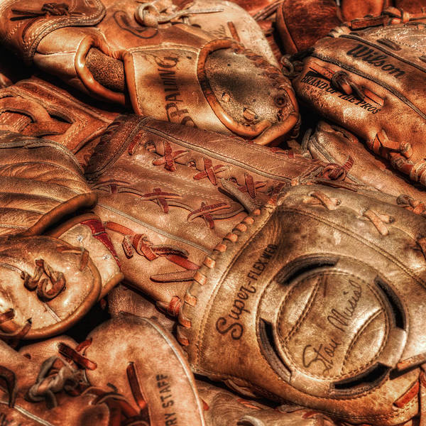 Nostalgia Art Print featuring the photograph Old Leather by Bill Wakeley