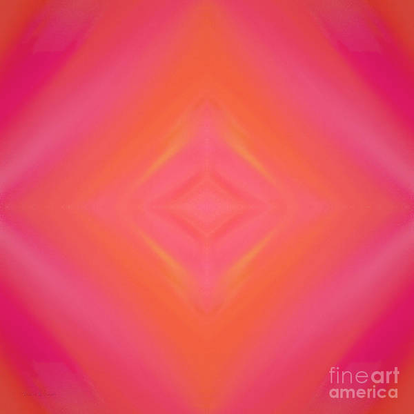 Andee Design Abstract Art Print featuring the digital art Orange And Raspberry Sorbet Abstract 4 by Andee Design