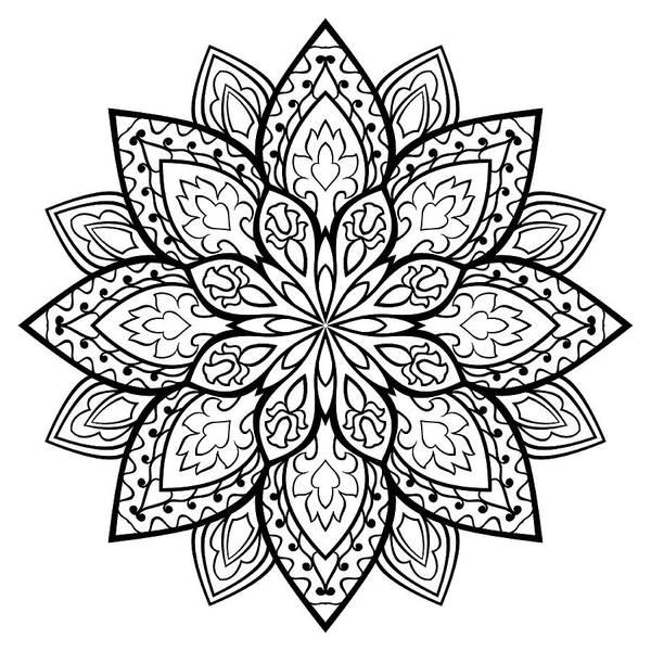 Oriental Simple Mandala  Art Print