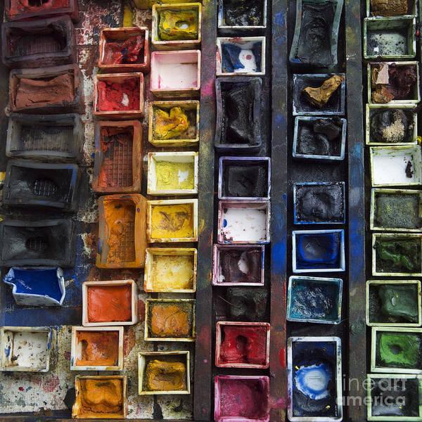 Indoors Art Print featuring the photograph Paint Box by Bernard Jaubert