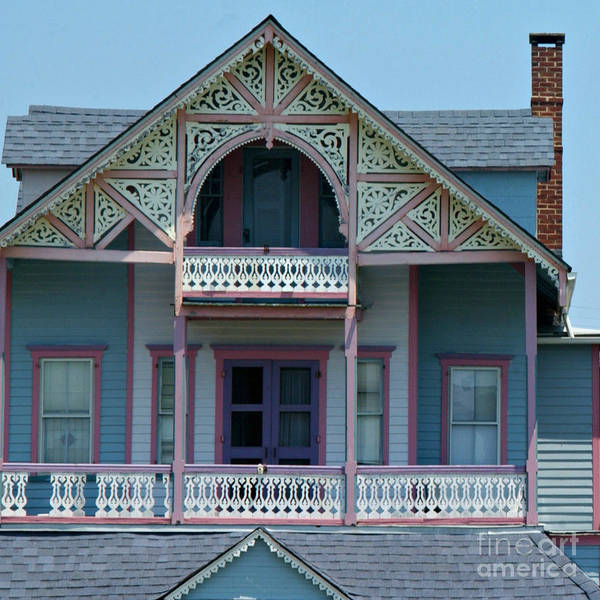 Homes Print featuring the photograph Painted Lady In Ocean Grove Nj by Anna Lisa Yoder