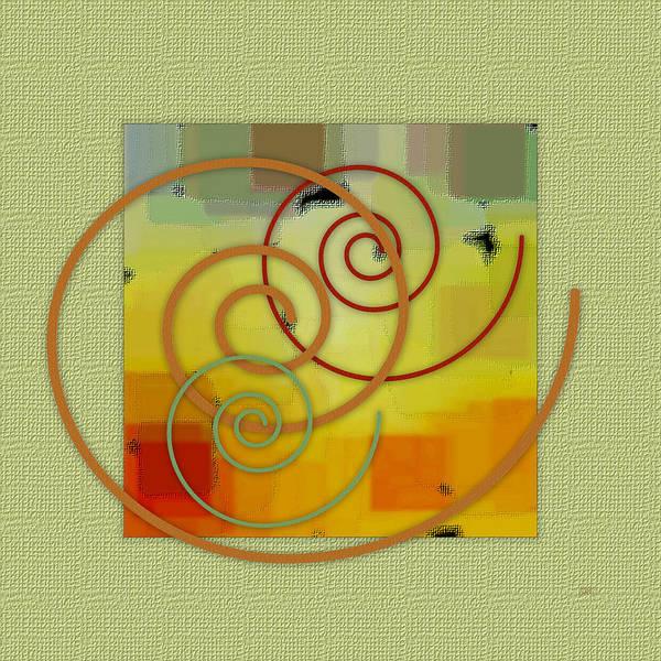 Abstract Art Print featuring the digital art Patchwork I by Ben and Raisa Gertsberg