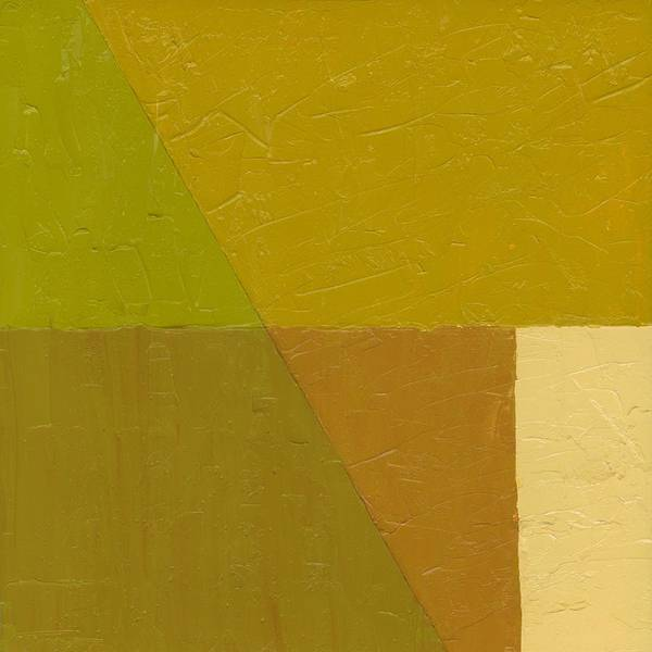 Abstract Art Print featuring the painting Pea Soup And Cream by Michelle Calkins