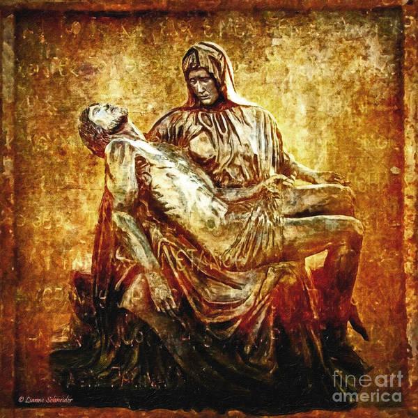 Jesus Art Print featuring the photograph Pieta Via Dolorosa 13 by Lianne Schneider