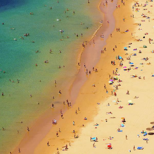 Water's Edge Art Print featuring the photograph Playa De Las Teresitas, Tenerife, Spain by Chris Hepburn