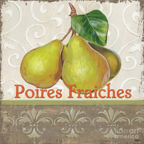 Kitchen Art Print featuring the painting Poires Fraiches by Debbie DeWitt