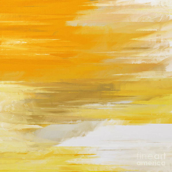 Abstract Art Print featuring the digital art Precious Metals Abstract by Andee Design