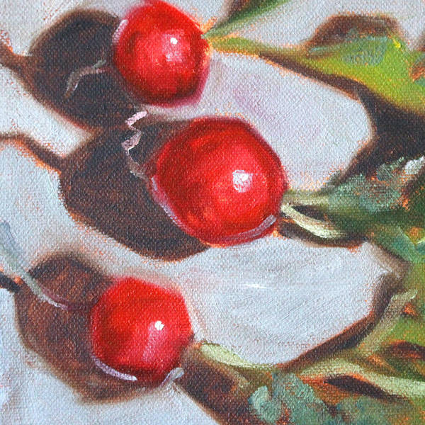 Radish Art Print featuring the painting Radishes by Nancy Merkle