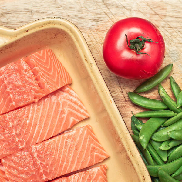 Background Print featuring the photograph Raw Salmon by Tom Gowanlock