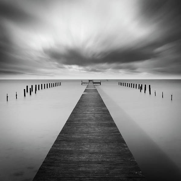 Pier Art Print featuring the photograph Reaching Out by Mats Reslow