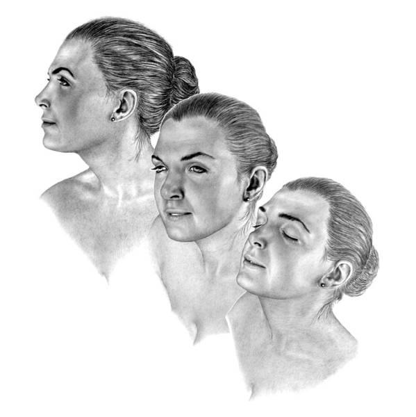 Pencil Drawing Print Art Print featuring the drawing Reflecting by Joe Olivares