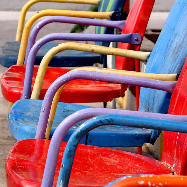 Route 66 Art Print featuring the photograph Route 66 Chairs by Art Block Collections