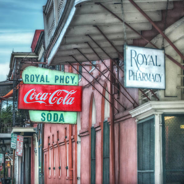 French Quarter Art Print featuring the photograph Royal Pharmacy by Brenda Bryant