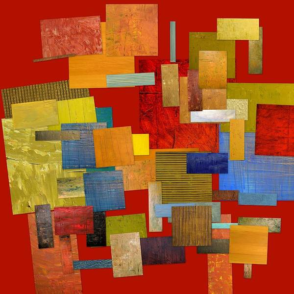 Textural Art Print featuring the painting Scrambled Eggs L by Michelle Calkins