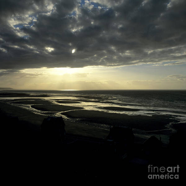 Outdoors Art Print featuring the photograph Sea And Stormy Sky by Bernard Jaubert