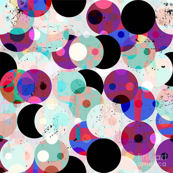 Pink Art Print featuring the digital art Seamless Pattern Background by Kirsten Hinte