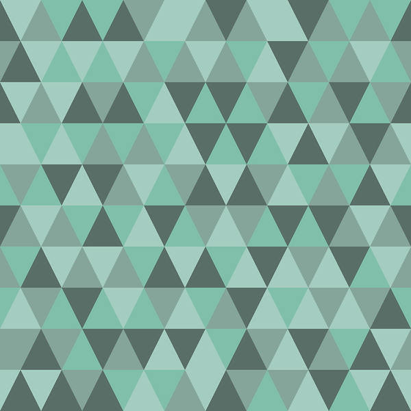 Seamless Triangle Pattern Geometric Abstract Texture Vector Background Art Print