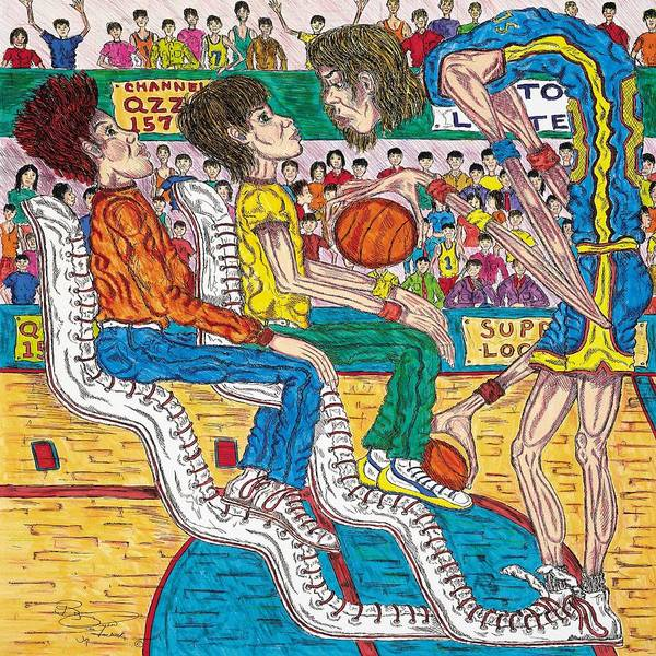 Hoops Art Print featuring the mixed media So You Wanna Play Ball by Richard Hockett