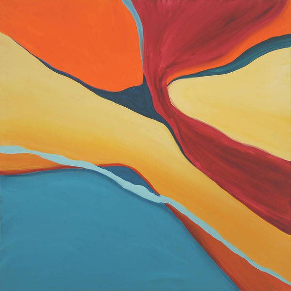 Abstract Art Print featuring the painting Soaring by Marilyn Fenn