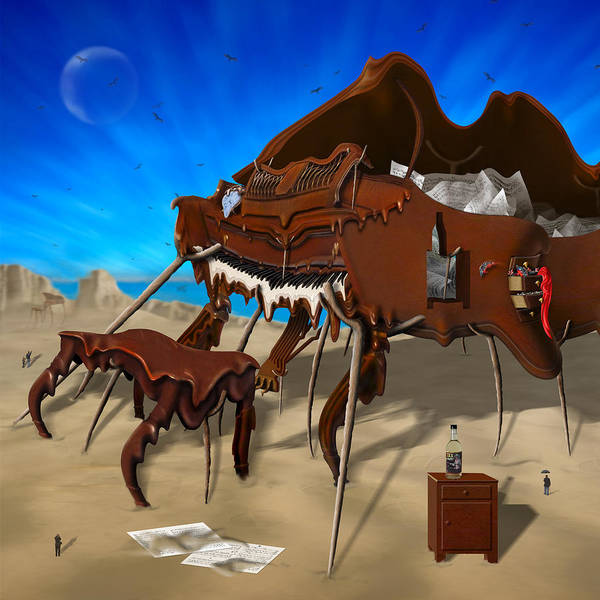 Surrealism Art Print featuring the photograph Soft Grand Piano Se 2 by Mike McGlothlen