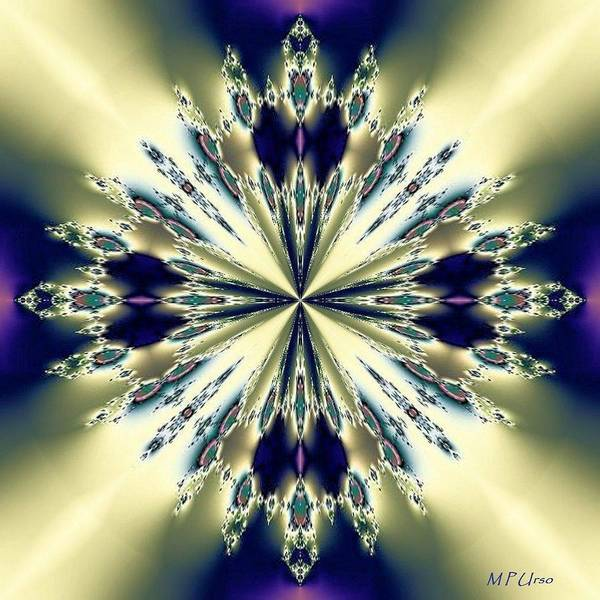 Star Jewel Fractal Art Print featuring the digital art Star Jewel Fractal by Maria Urso