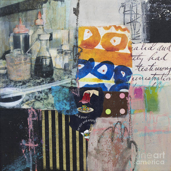 Stir And Enjoy Art Print featuring the mixed media Stir And Enjoy by Elena Nosyreva
