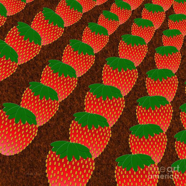 Strawberry Art Print featuring the digital art Strawberry Fields Forever by Andee Design